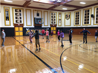 Thank you Deyver for Leading PE Warm Ups This Week photo